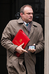London, February 3rd 2015. Members of the cabinet gather at Downing Street for their weekly meeting. PICTURED: Edward Davey, Secretary of State for Energy and Climate Change