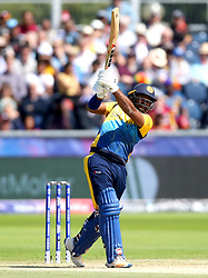 Sri Lanka's Kusal Perera bats during the ICC Cricket World Cup group stage match at The Riverside Durham, Chester-le-Street.