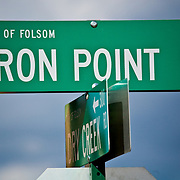 Iron Point Road Sign