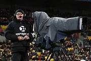 Sky TV Cameraman.<br /> New Zealand All Blacks v South Africa Springboks. Rugby Championship test match. Westpac Stadium, Wellington, New Zealand. Saturday 15 September 2018. &copy; Copyright photo: Andrew Cornaga / www.Photosport.nz