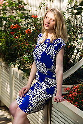 Repro Free: Model Rasma is pictured at the launch of Heatons 2013 summer range. The new range is packed full of bright colours and feminine prints, inspired by the latest runway trends. Heatons new collection makes it effortless to look good this summer, with key statement pieces that can be mixed and matched to help make the most of your wardrobe. For more information visit  www.heatonstores.com. Picture Andres Poveda.