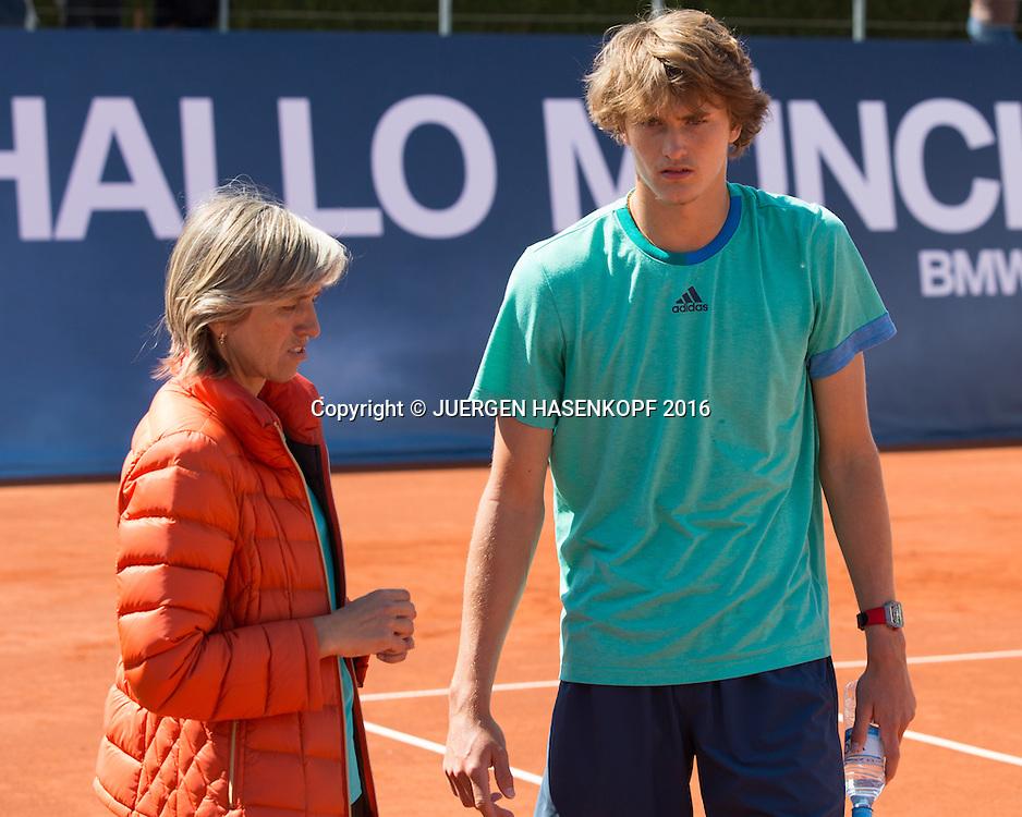 Alexander Zverev (GER)<br /> <br /> Tennis - BMW Open2016 -  ATP  -  MTTC Iphitos - Munich -  - Germany  - 30 April 2016.