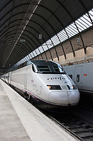 high speed ave train service in seville, spain