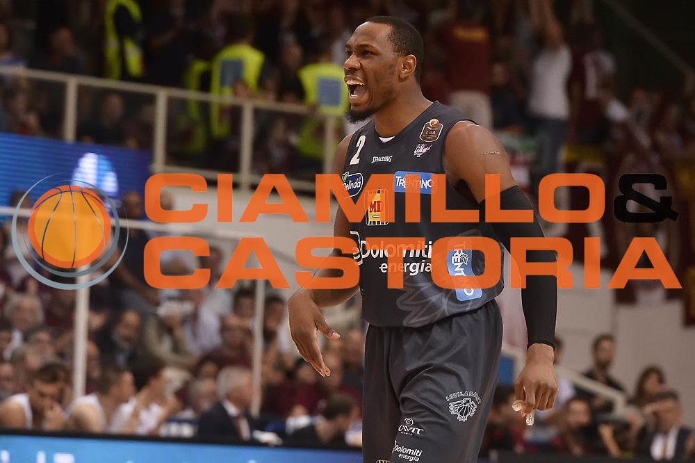 Dominique Sutton<br /> Dolomiti Energia Aquila Basket Trento - Umana Reyer Venezia<br /> Playoff Gara 4<br /> Lega Basket 2016/2017<br /> Trento 16/06/2017<br /> Foto Ciamillo-Castoria