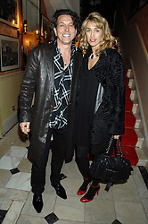 STEPHEN & ASSIA WEBSTER at the engagement party of Vanessa Neumann and William Cash held at 16 Westbourne Terrace, London W2 on 15th April 2008.<br />