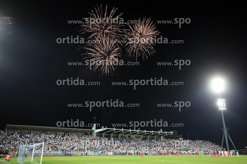 22.08.2013, Stadion Kantrida, Rijeka, CRO, UEFA EL Qualifikation, HNK Rijeka vs VfB Stuttgart, Hinspiel, im Bild Feuerwerk // during the UEFA Europa League Qualification first leg match between HNK Rijeka and VfB Stuttgart at Kantrida Stadium in Rijeka, Croatia on 2013/08/22. EXPA Pictures &copy; 2013, PhotoCredit: EXPA/ Pixsell/ Nel Pavletic<br /> <br /> ***** ATTENTION - for AUT, SLO, SUI, ITA, FRA only *****