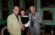 Harold Pinter, Lady Saatchi ( Josephine Hart) and Eric Hobsbaun. Celebration of Lord Weidenfeld's 60 Years in Publishing hosted by Orion. the Weldon Galleries. National Portrait Gallery. London. 29 June 2005. ONE TIME USE ONLY - DO NOT ARCHIVE  © Copyright Photograph by Dafydd Jones 66 Stockwell Park Rd. London SW9 0DA Tel 020 7733 0108 www.dafjones.com