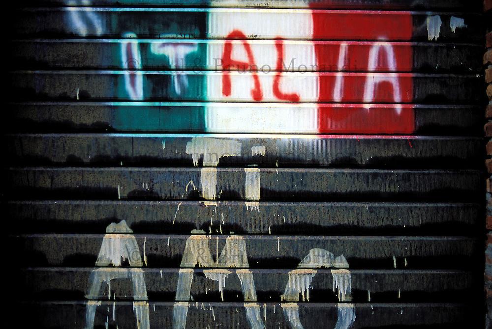 Italie - Toscane - Grafitti - Italie je t'aime // Italy, Tuscany, Grafitti.