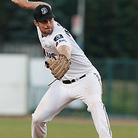 06 June 2010: Radek Prochazka of AVG Draci Brno pitches against Rouen during the 2010 Baseball European Cup match won 10-8 by the Rouen Huskies over AVG Draci Brno, at the AVG Arena, in Brno, Czech Republic.