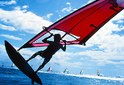 Windsurfing, Diamond Head, Oahu, Hawaii