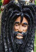 Rastafarian wood carving, Negril, Jamaica