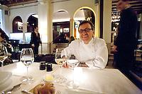 .Chef Daniel Boulud, in his French restaurant Daniel, NYC.
