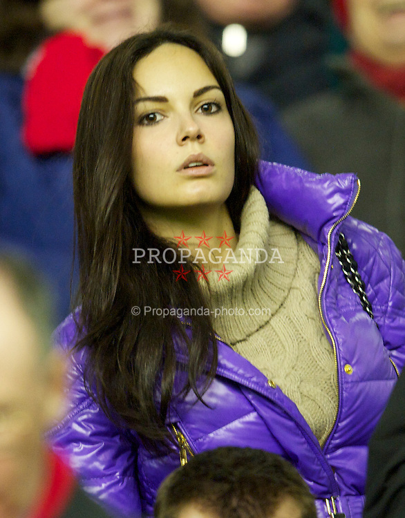 LIVERPOOL, ENGLAND - Monday, March 15, 2010: Michela Quattrociocche, girlfriend of Liverpool's Alberto Aquilani before the Premiership match at Anfield. (Photo by: David Rawcliffe/Propaganda)