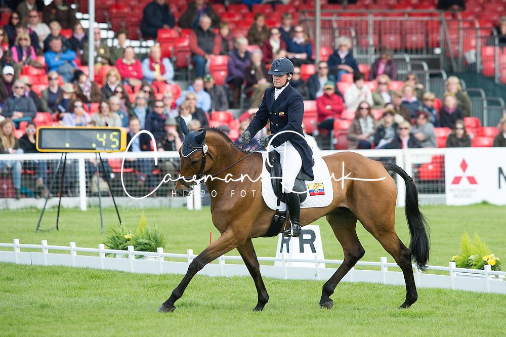 Wettstein Nicola, (ECU), Nadeville Merze<br /> Dressage <br /> Mitsubishi Motors Badminton Horse Trials - Badminton 2015<br /> &copy; Hippo Foto - Jon Stroud<br /> 07/05/15
