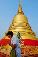 Thailande, Bangkok, Chedi au temple Wat Saket sur le Mont d Or // Thailand, Bangkok, the golden pagoda at Wat Saket also known as the Temple of Golden Mount