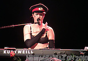 Amanda Palmer performs at the Dresden Dolls 10th Bandiversary Show in New York City on Halloween Night 2010.