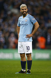 February 24, 2019 - London, England, United Kingdom - Manchester City's Sergio Aguero after his penalty.during during Carabao Cup Final between Chelsea and Manchester City at Wembley stadium , London, England on 24 Feb 2019. (Credit Image: © Action Foto Sport/NurPhoto via ZUMA Press)