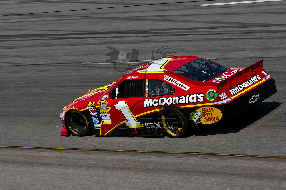 RICHMOND, VA - APR 27, 2012:  Jamie McMurray (1) and his crew practice for the Capital City 400 Presented by Virginia Is For Lovers at the Richmond International Raceway in Richmond, VA.
