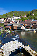 Lods and the River Doubs, Jura, Franche Comte, France