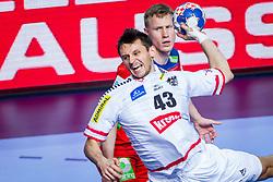 Thomas Kandolf of Austria during handball match between National teams of Austria vs Norway on Day 4 in Preliminary Round of Men's EHF EURO 2018, on January 16, 2018 in Arena Zatika, Porec, Croatia. Photo by Ziga Zupan / Sportida