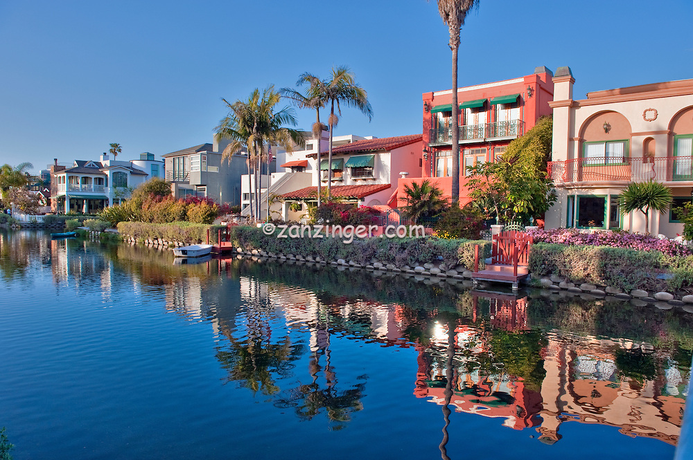 Venice Canals, Canal, Bridges, Luxury Bohemian Houses, residential area