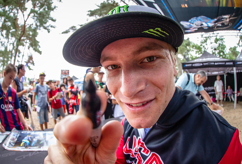 Connor Fields at the 2015 UCI BMX World Championships in Zolder, Belgium.