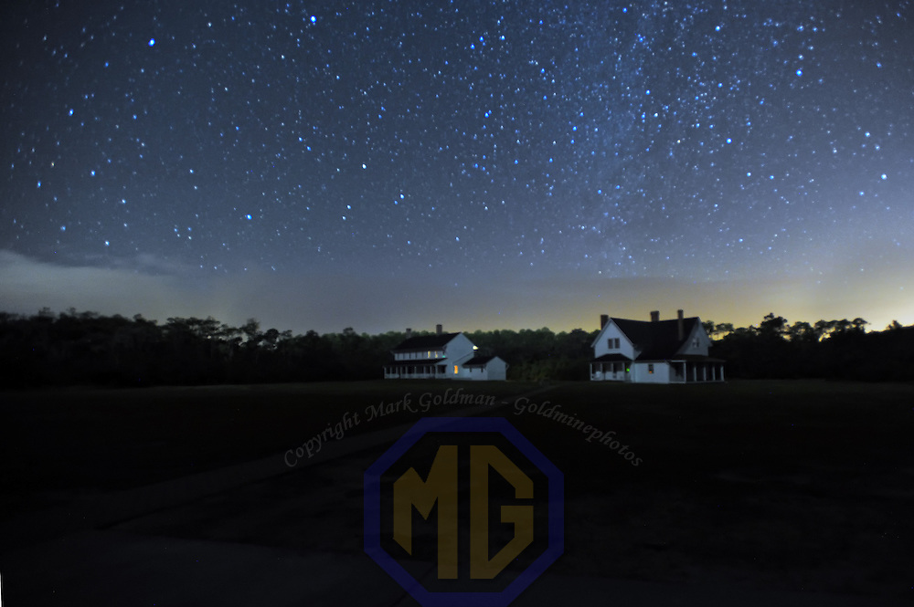 23 November 2013: A 30 second exposure of the light keepers house at the Cape Hatteras Light house with the Milky Way showing.