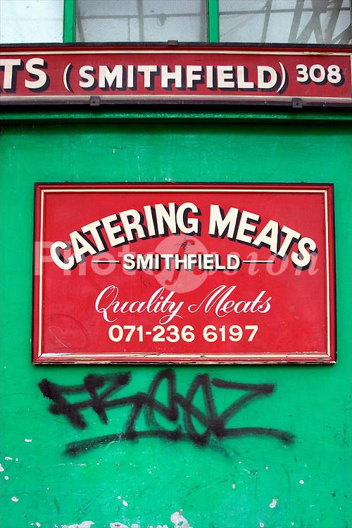 Smithfield meat market London UK