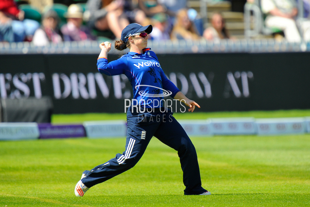 England women's Tammy Beaumont during the Royal London ODI match between England Women Cricket and Pakistan Women Cricket at the Cooper Associates County Ground, Taunton, United Kingdom on 27 June 2016. Photo by Graham Hunt.