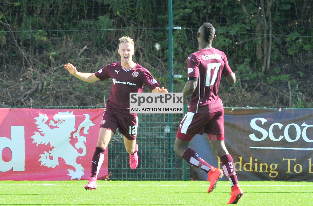 Billy King of Hearts celebrates equalising against Accies......(c) BILLY WHITE | SportPix.org.uk