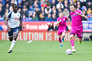 Rochdale midfielder Ollie Rathbone in action during the EFL Sky Bet League 1 match between Bolton Wanderers and Rochdale at the University of  Bolton Stadium, Bolton, England on 19 October 2019.