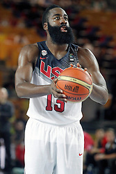 02.09.2014, City Arena, Bilbao, ESP, FIBA WM, USA vs Neuseeland, im Bild USA's James Harden // during FIBA Basketball World Cup Spain 2014 match between USA and New Zealand at the City Arena in Bilbao, Spain on 2014/09/02. EXPA Pictures © 2014, PhotoCredit: EXPA/ Alterphotos/ Acero<br /> <br /> *****ATTENTION - OUT of ESP, SUI*****