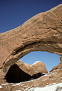 Arch Detail, Double Arch, Arch, Arches, Arches National Park, Utah