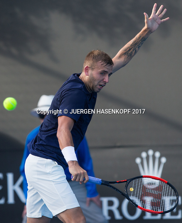 DANIEL EVANS (GBR), Tattoo<br /> <br /> Australian Open 2017 -  Melbourne  Park - Melbourne - Victoria - Australia  - 16/01/2017.