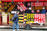 Sholing and West Auckland merchandise before the FA Vase match at Wembley Stadium, London<br /> Picture by David Horn/Focus Images Ltd +44 7545 970036<br /> 10/05/2014