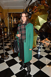 TRACEY EMIN at a party to celebrate theunveiling of the Claridge's Christmas Tree designed by Christopher Bailey for Burberryheld at Claridge's, Brook Street, London on 18th November 2015.