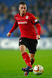 Cardiff Defender Andrew Taylor (ENG) in action during the second half of the match - Photo mandatory by-line: Rogan Thomson/JMP - Tel: Mobile: 07966 386802 23/10/2012 - SPORT - FOOTBALL - Cardiff City Stadium - Cardiff. Cardiff City v Watford - Football League Championship