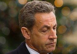 File photo - Former French President and UMP party leader Nicolas Sarkozy leaves the Elysee Palace after his meeting with President Francois Hollande to discuss yesterday's deadly shooting at satirical magazine Charlie Hebdo, at the Elysee Palace in Paris, France on January 8, 2015. A French judge has ordered ex-President Nicolas Sarkozy to stand trial in an illegal campaign finance case. Mr Sarkozy faces accusations that his party falsified accounts in order to hide 18m euros of campaign spending in 2012. Mr Sarkozy denies he was aware of the overspending, and will appeal against the order to stand trial. Photo by Thierry Orban/ABACAPRESS.COM