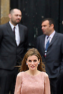 Queen Letizia of Spain visits the Cathedral of Santiago de Compostela in Galicia Official Day on July 25, 2014 in Santiago de Compostela, Galicia