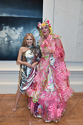 Kylie Minogue and Grayson Perry at The Royal Academy of Arts Summer Exhibition Preview Party 2019, Burlington House, Piccadilly, London England. 04 June 2019.