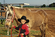 Young cowboy at horse show in Oklahoma, <br /> MODEL RELEASED