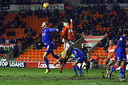 Oldham Athletic Defender,James Wilson during the Sky Bet League 1 match between Blackpool and Oldham Athletic at Bloomfield Road, Blackpool, England on 16 February 2016. Photo by Pete Burns.