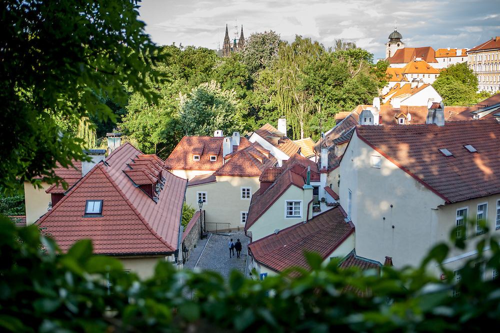 "The ""Novy Svet"" quater - close to the Prague Castle area - seen from above."