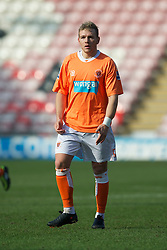 BLACKPOOL, ENGLAND - Wednesday, March 3, 2011: Liverpool's Malaury Martin in action against Blackpool during the FA Premiership Reserves League (Northern Division) match at Bloomfield Road. (Photo by David Rawcliffe/Propaganda)