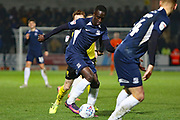 Elvis Bwomono dribbles forward during the EFL Sky Bet League 1 match between Burton Albion and Southend United at the Pirelli Stadium, Burton upon Trent, England on 3 December 2019.