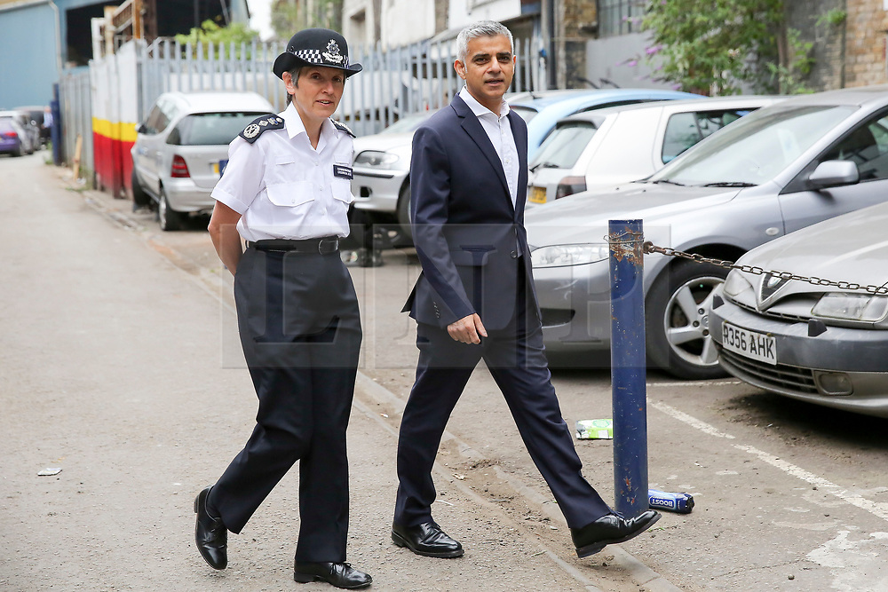 © London News Pictures. 27/06/2017. London, UK. The Mayor of London, Sadiq Khan and the Met Police Commissioner, Cressida Dick arrive at Dwaynamics Boxing Club. The Mayor of London, Sadiq Khan and the Met Police Commissioner, Cressida Dick, launches a knife crime strategy at Dwaynamics Boxing Club, which will tackle the deeply concerning rise in knife crime across the capital, especially among young Londoners. Photo credit: Dinendra Haria/LNP