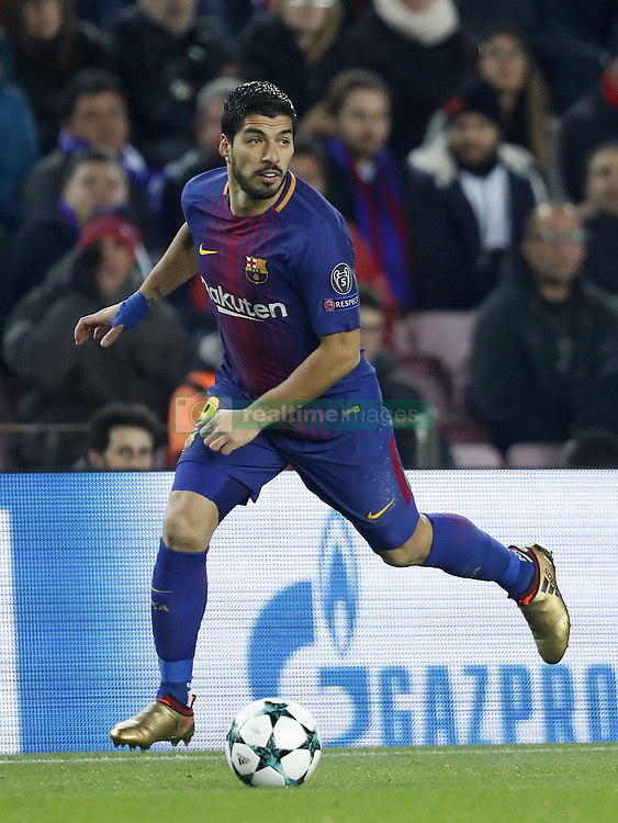 Luis Suarez of FC Barcelona during the UEFA Champions League group D match between FC Barcelona and Sporting Club de Portugal on December 05, 2017  at the Camp Nou stadium in Barcelona, Spain.
