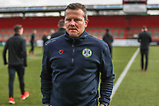 Forest Green Rovers manager, Mark Cooper during the EFL Sky Bet League 2 match between Stevenage and Forest Green Rovers at the Lamex Stadium, Stevenage, England on 26 January 2019.