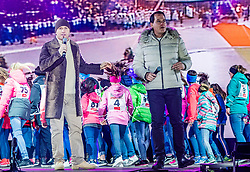 20.02.2019, Seefeld, AUT, FIS Weltmeisterschaften Ski Nordisch, Seefeld 2019, Eröffnungsfeier, im Bild Gregor Glanz und Christian Rijavec // Gregor Glanz und Christian Rijavec during the opening ceremony of the FIS Nordic Ski World Championships 2019. Seefeld, Austria on 2019/02/20. EXPA Pictures © 2019, PhotoCredit: EXPA/ Stefan Adelsberger
