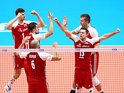 September 30, 2018 - Turin, Italy - Poland v Brazil - FIVP Men's World Championship Final.Michal Kubiak of Poland celebrates with the teammates at Pala Alpitour in Turin, Italy on September 30, 2018. (Credit Image: © Matteo Ciambelli/NurPhoto/ZUMA Press)